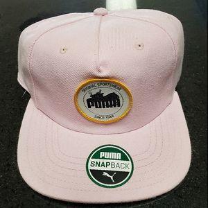 Puma Sportswear Pink Snapback Hat NWT